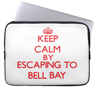 Keep calm by escaping to Bell Bay Michigan Computer Sleeve