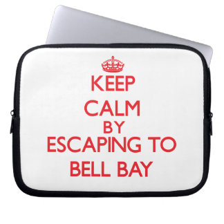 Keep calm by escaping to Bell Bay Michigan Laptop Computer Sleeve