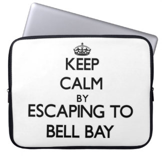 Keep calm by escaping to Bell Bay Michigan Computer Sleeves