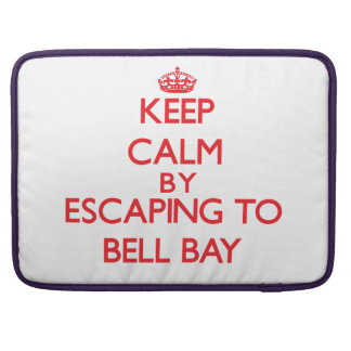 Keep calm by escaping to Bell Bay Michigan Sleeves For MacBooks