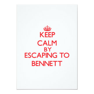 Keep calm by escaping to Bennett New Jersey 5x7 Paper Invitation Card