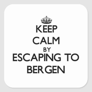 Keep calm by escaping to Bergen New Jersey Stickers