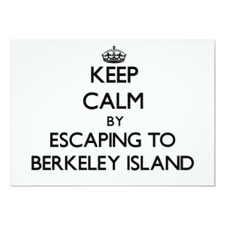 Keep calm by escaping to Berkeley Island New Jerse 5x7 Paper Invitation Card