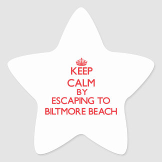 Keep calm by escaping to Biltmore Beach Florida Star Sticker