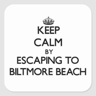 Keep calm by escaping to Biltmore Beach Florida Stickers