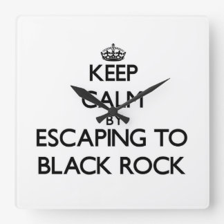Keep calm by escaping to Black Rock Massachusetts Wall Clocks