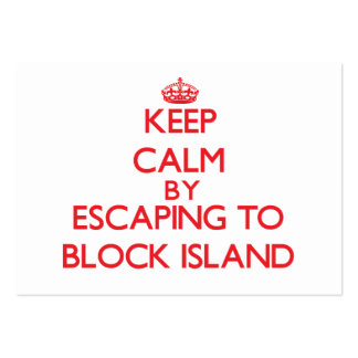 Keep calm by escaping to Block Island Rhode Island Large Business Cards (Pack Of 100)