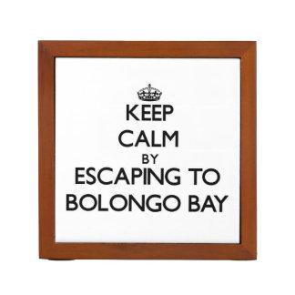 Keep calm by escaping to Bolongo Bay Virgin Island Desk Organizer