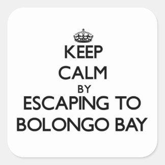 Keep calm by escaping to Bolongo Bay Virgin Island Square Sticker