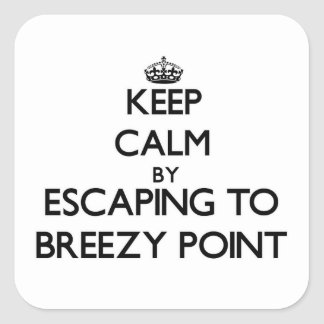 Keep calm by escaping to Breezy Point Maryland Sticker