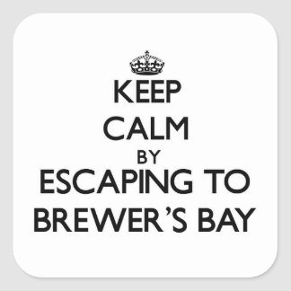 Keep calm by escaping to Brewer'S Bay Virgin Islan Square Sticker