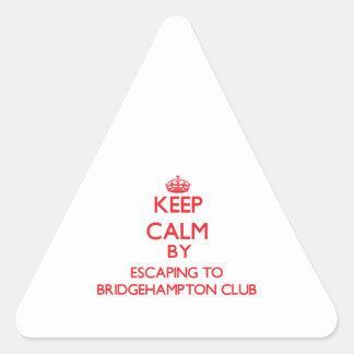 Keep calm by escaping to Bridgehampton Club New Yo Triangle Sticker