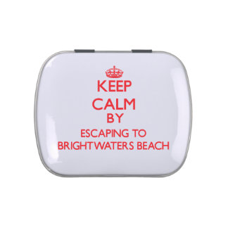 Keep calm by escaping to Brightwaters Beach New Yo Jelly Belly Tin