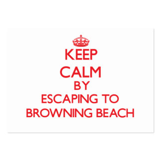 Keep calm by escaping to Browning Beach Rhode Isla Large Business Cards (Pack Of 100)