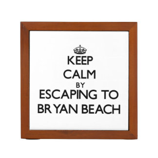 Keep calm by escaping to Bryan Beach Texas Desk Organizer