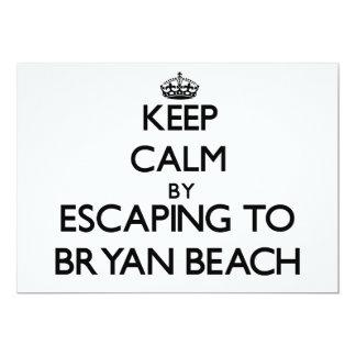 Keep calm by escaping to Bryan Beach Texas 5x7 Paper Invitation Card