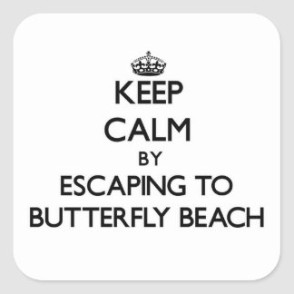 Keep calm by escaping to Butterfly Beach Californi Sticker