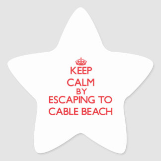 Keep calm by escaping to Cable Beach New Hampshire Stickers