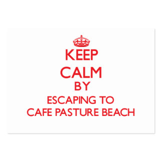 Keep calm by escaping to Cafe Pasture Beach Rhode Large Business Cards (Pack Of 100)