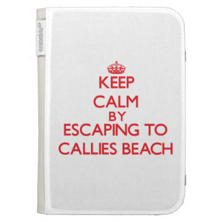 Keep calm by escaping to Callies Beach Massachuset Case For Kindle