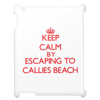 Keep calm by escaping to Callies Beach Massachuset iPad Covers