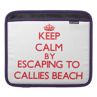 Keep calm by escaping to Callies Beach Massachuset Sleeve For iPads