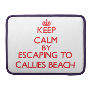 Keep calm by escaping to Callies Beach Massachuset Sleeve For MacBook Pro