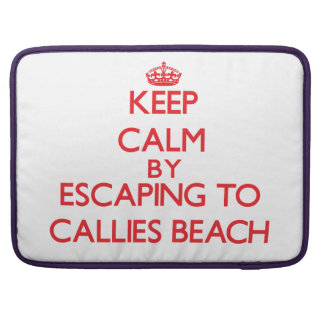 Keep calm by escaping to Callies Beach Massachuset Sleeve For MacBooks