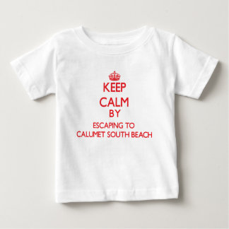 Keep calm by escaping to Calumet South Beach Illin T Shirts