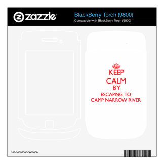 Keep calm by escaping to Camp Narrow River Rhode I BlackBerry Torch Decal