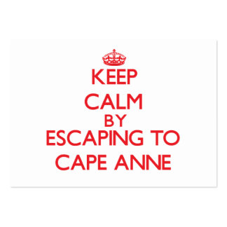 Keep calm by escaping to Cape Anne Maryland Business Card Templates