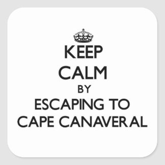 Keep calm by escaping to Cape Canaveral Florida Sticker