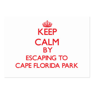 Keep calm by escaping to Cape Florida Park Florida Business Card