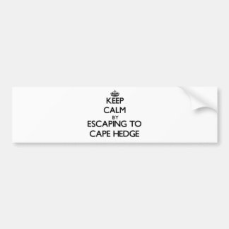 Keep calm by escaping to Cape Hedge Massachusetts Car Bumper Sticker