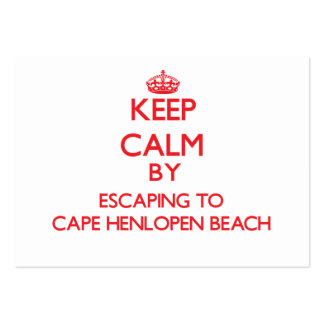 Keep calm by escaping to Cape Henlopen Beach Delaw Business Card