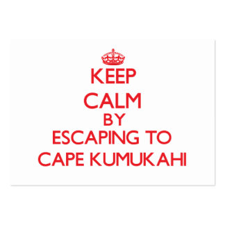 Keep calm by escaping to Cape Kumukahi Hawaii Business Card