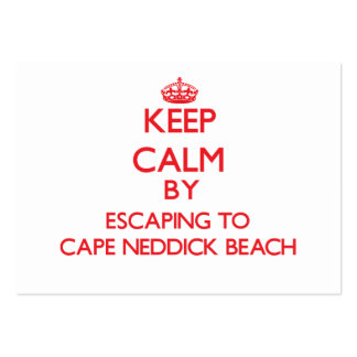 Keep calm by escaping to Cape Neddick Beach Maine Business Card