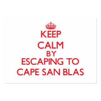 Keep calm by escaping to Cape San Blas Florida Business Card Template