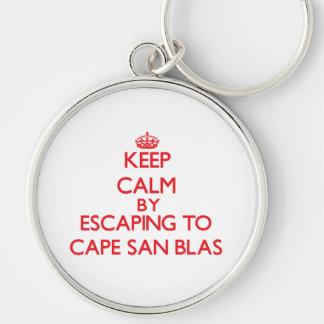 Keep calm by escaping to Cape San Blas Florida Key Chain