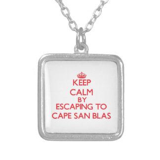 Keep calm by escaping to Cape San Blas Florida Necklaces