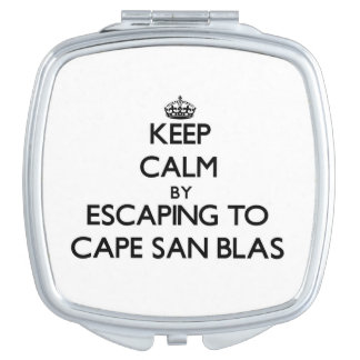 Keep calm by escaping to Cape San Blas Florida Travel Mirror