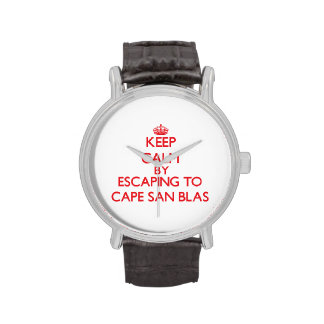 Keep calm by escaping to Cape San Blas Florida Wristwatch