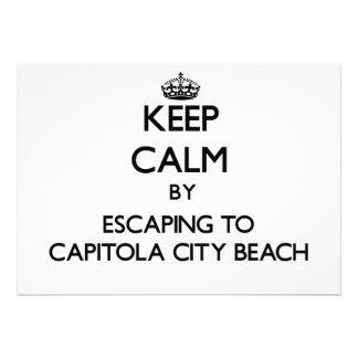 Keep calm by escaping to Capitola City Beach Calif Custom Announcement