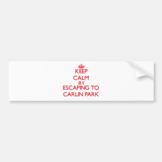 Keep calm by escaping to Carlin Park Florida Bumper Stickers