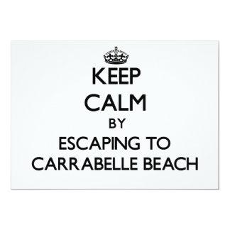 "Keep calm by escaping to Carrabelle Beach Florida 5"" X 7"" Invitation Card"