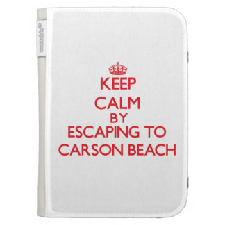 Keep calm by escaping to Carson Beach Massachusett Kindle Cover