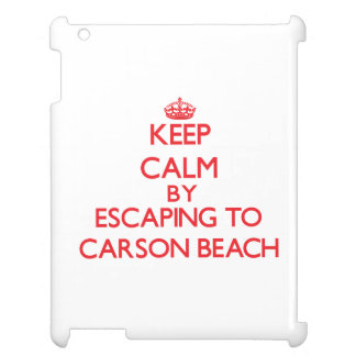 Keep calm by escaping to Carson Beach Massachusett Cover For The iPad 2 3 4