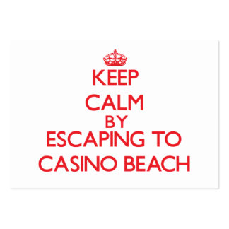 Keep calm by escaping to Casino Beach Florida Business Card Template