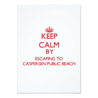 "Keep calm by escaping to Caspersen Public Beach Fl 5"" X 7"" Invitation Card"