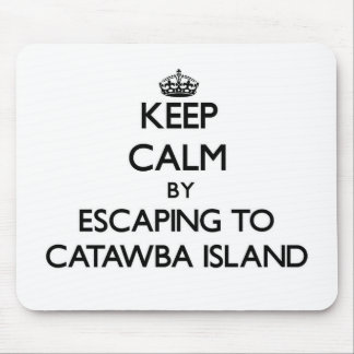Keep calm by escaping to Catawba Island Ohio Mouse Pad